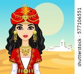 animation portrait of the arab... | Shutterstock .eps vector #577106551