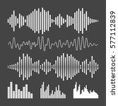 vector sound waveforms icon.... | Shutterstock .eps vector #577112839