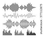 vector sound waveforms icon.... | Shutterstock .eps vector #577112875