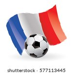 france flag waving football | Shutterstock .eps vector #577113445