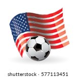 usa flag waving football | Shutterstock .eps vector #577113451