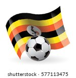uganda flag waving football | Shutterstock .eps vector #577113475