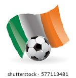 ireland flag waving football | Shutterstock .eps vector #577113481