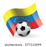 venezuela flag waving football | Shutterstock .eps vector #577113499