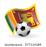 sri lanka flag waving football | Shutterstock .eps vector #577114189