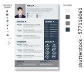 vector creative minimalist cv... | Shutterstock .eps vector #577116061