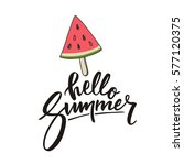 hello summer lettering and... | Shutterstock .eps vector #577120375