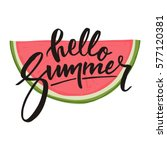 hello summer lettering and... | Shutterstock .eps vector #577120381
