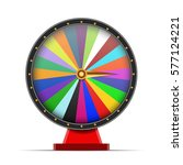colorful wheel of fortune on...   Shutterstock . vector #577124221