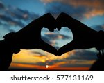Silhouette Of Heart Made By...
