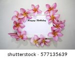happy birthday word on the... | Shutterstock . vector #577135639