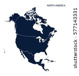map of north america | Shutterstock .eps vector #577143331