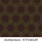 decorative wallpaper design in... | Shutterstock .eps vector #577146139