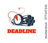 deadline concept logo  dynamite ... | Shutterstock .eps vector #577147141