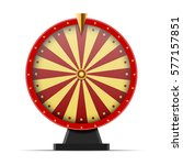 Red Wheel Of Fortune  Isolated...