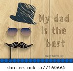 happy father's day.... | Shutterstock . vector #577160665