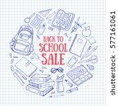 back to school sale background. ... | Shutterstock .eps vector #577161061