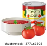 fresh tomatoes and tomato soup...