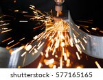 drill with diamond tipped... | Shutterstock . vector #577165165