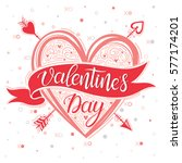 valentines day   hand painted... | Shutterstock .eps vector #577174201