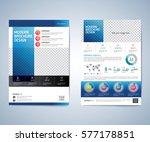 business brochure  leaflet ... | Shutterstock .eps vector #577178851