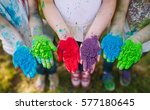hands   palms of young people... | Shutterstock . vector #577180645