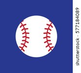 baseball icon vector | Shutterstock .eps vector #577184089