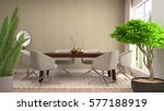 interior dining area. 3d... | Shutterstock . vector #577188919