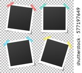 set of vintage photo frame with ... | Shutterstock .eps vector #577197649