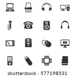 device vector icons for user... | Shutterstock .eps vector #577198531