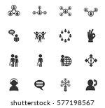 community vector icons for user ... | Shutterstock .eps vector #577198567
