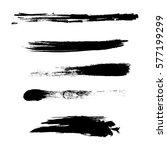 grunge paint stripe . vector...   Shutterstock .eps vector #577199299
