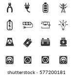 electricity vector icons for... | Shutterstock .eps vector #577200181