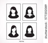 woman icons set  vector design   Shutterstock .eps vector #577202089