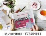 online shopping e commerce... | Shutterstock . vector #577204555