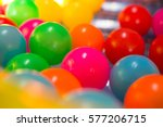 close up of colored balls... | Shutterstock . vector #577206715