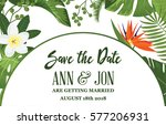 save the date card with... | Shutterstock .eps vector #577206931