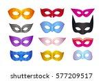 different carnival masks...   Shutterstock .eps vector #577209517