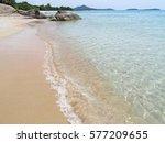 beautiful sea beach at samui... | Shutterstock . vector #577209655