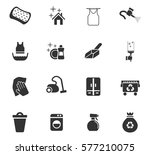 cleaning vector icons for user... | Shutterstock .eps vector #577210075