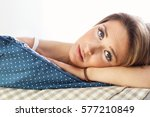 picture showing sad woman... | Shutterstock . vector #577210849