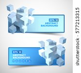modern geometric horizontal... | Shutterstock .eps vector #577213315