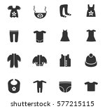 baby clothes vector icons for... | Shutterstock .eps vector #577215115