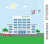 city hospital building or... | Shutterstock .eps vector #577215535