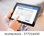 insurance claim form | Shutterstock . vector #577216435