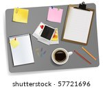 office supplies laying on the... | Shutterstock .eps vector #57721696