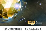yellow gold abstract triangle... | Shutterstock .eps vector #577221835