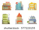 flat design of retro and modern ... | Shutterstock .eps vector #577223155