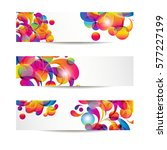 abstract web banners with... | Shutterstock . vector #577227199