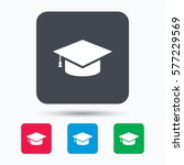 education icon. graduation cap... | Shutterstock . vector #577229569